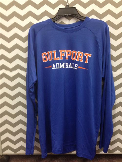 Admiral Nation dri fit long sleeve t-shirt