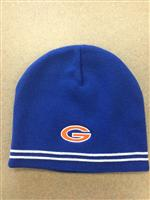 Gulfport G royal beanie w/stripe